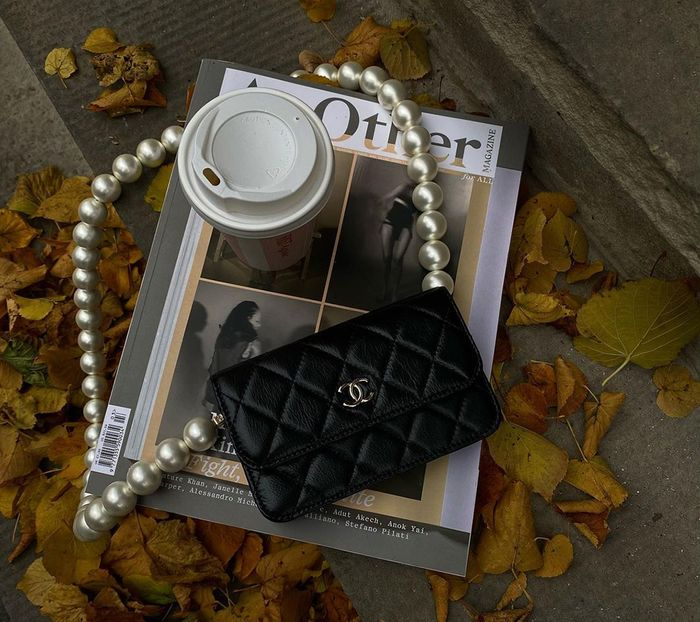 best designer bags 2021: Chanel Flap bag with pearl strap