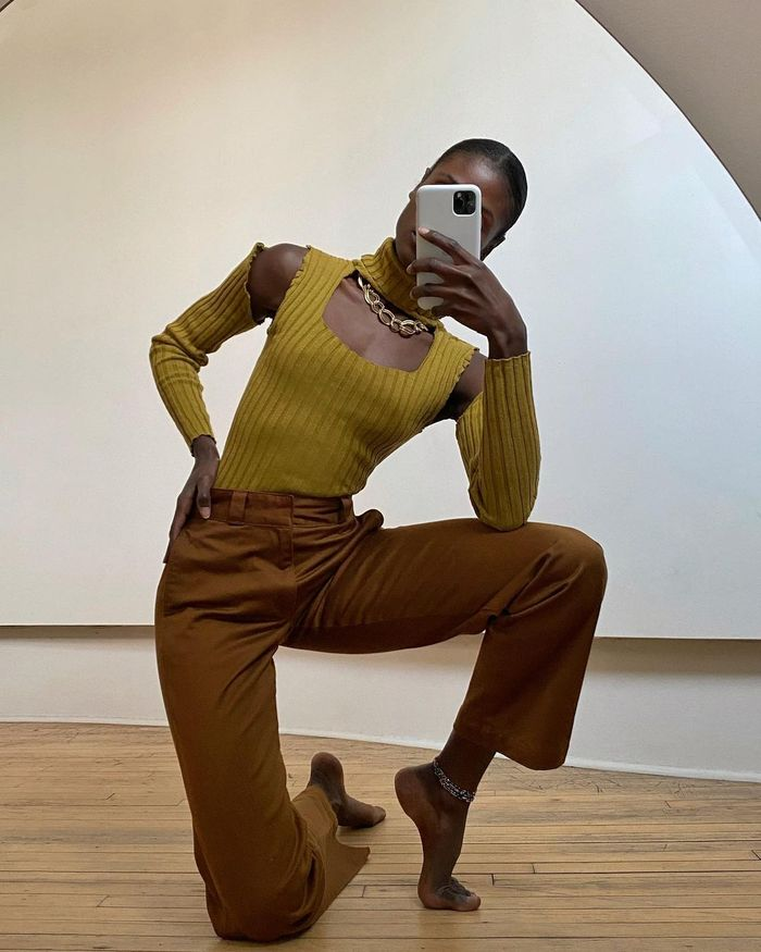 Trending Products 2021: @chainkyr wears a knitted top