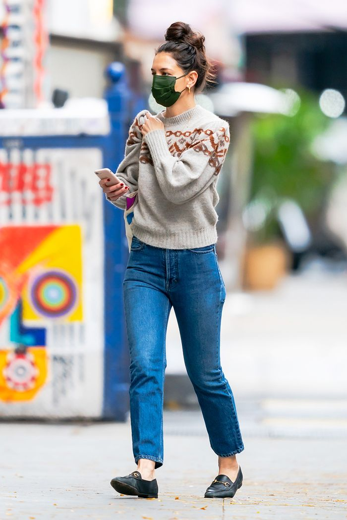 Katie Holmes simple outfit idea