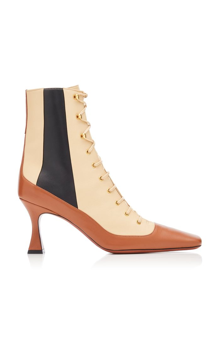 Manu Atelier Duck Lace Up Leather Boots