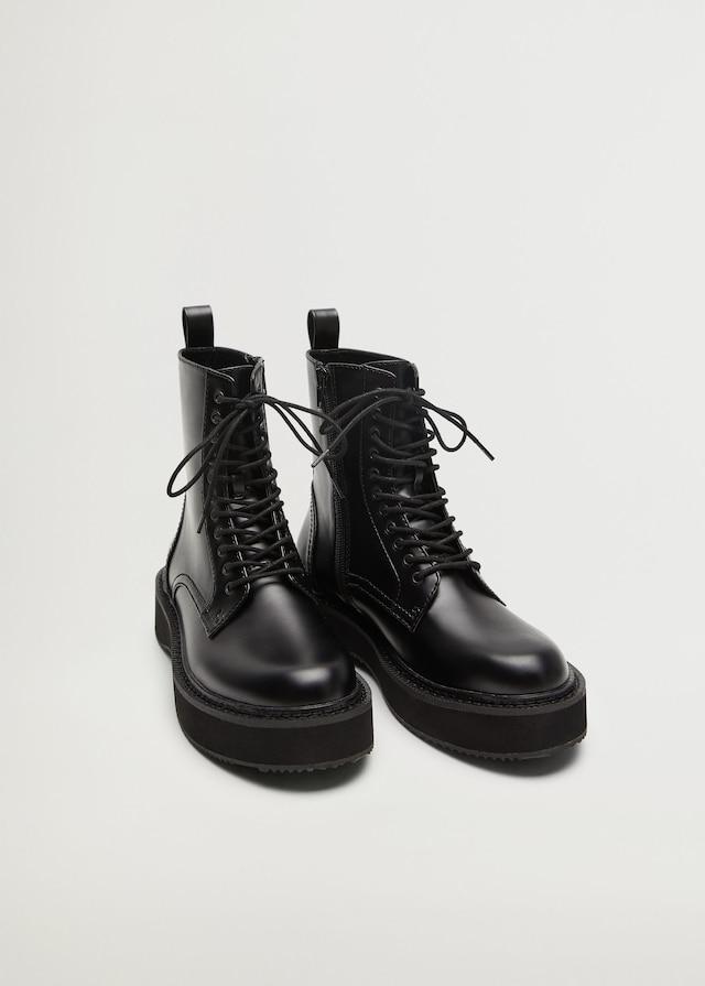 Mango Lace-Up Boots