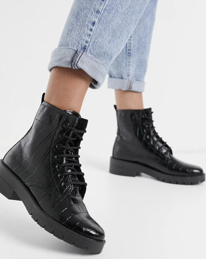 Topshop Lace-Up Boots