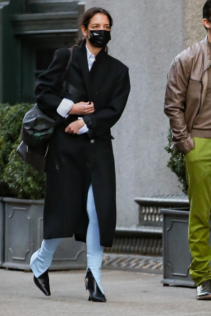 Katie Holmes, slit skinny jeans trend