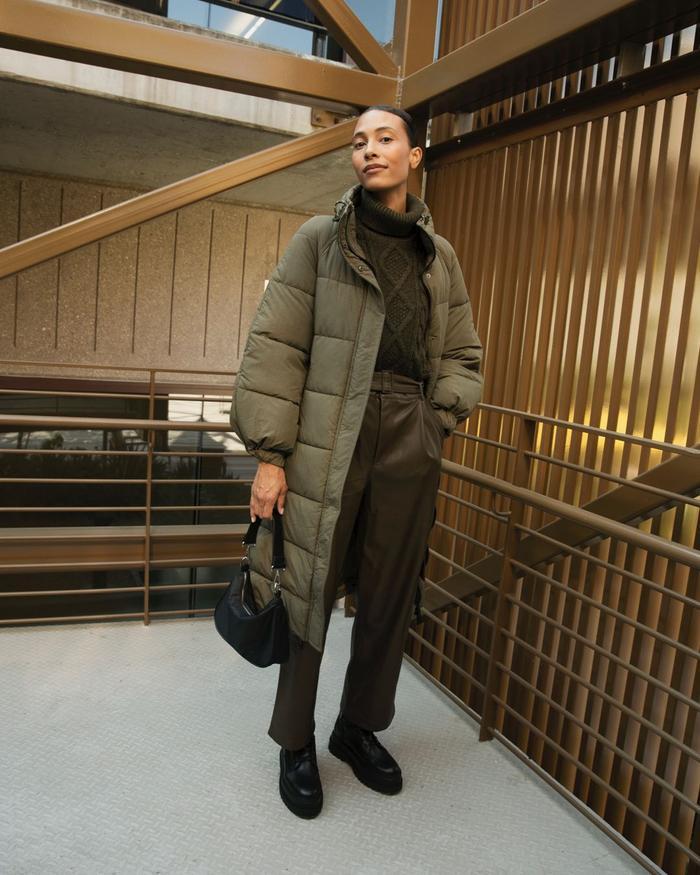 Mango, H&M, Monki new in: TyLynn Nguyen wears an outfit from Mango.