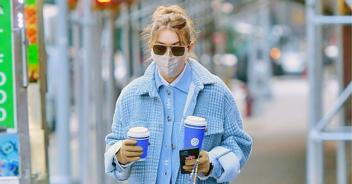 Gigi Hadid's sweatpants that look like jeans are the ideal quarantine compromise - cover
