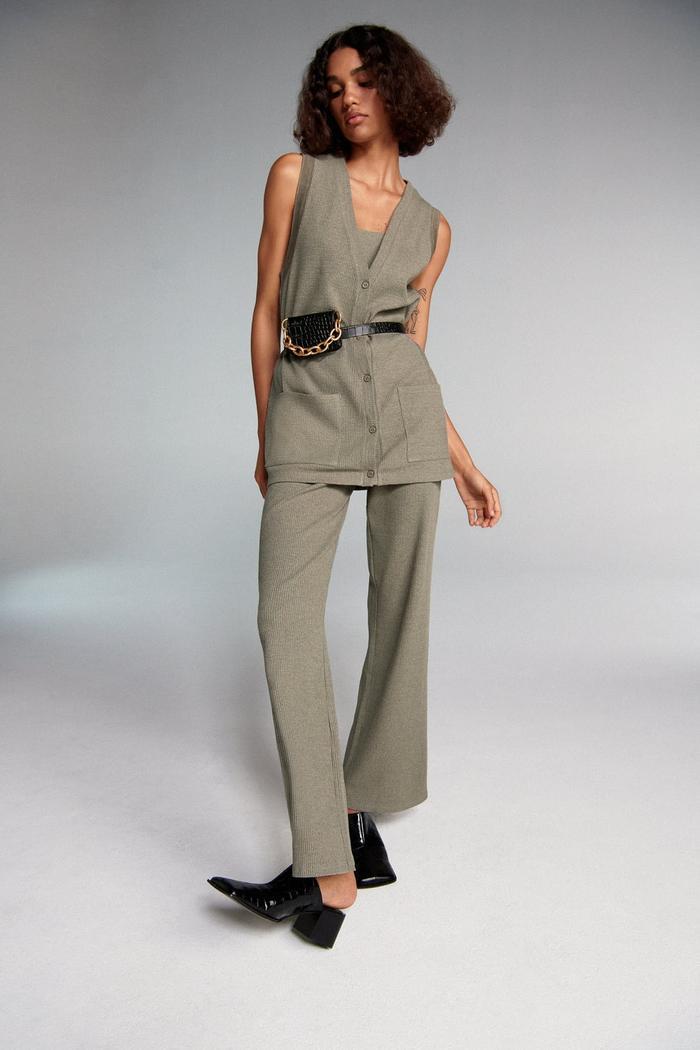 Zara Textured Pocket Vest