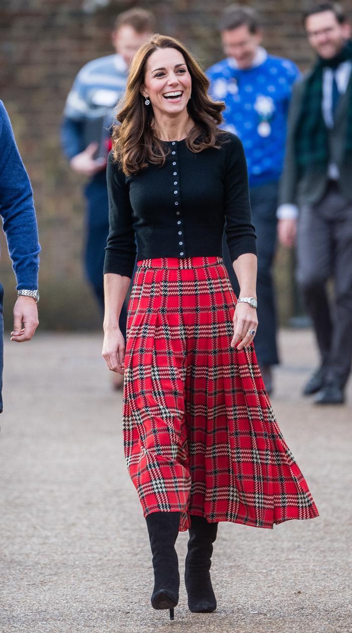 Kate Middleton's plaid skirt