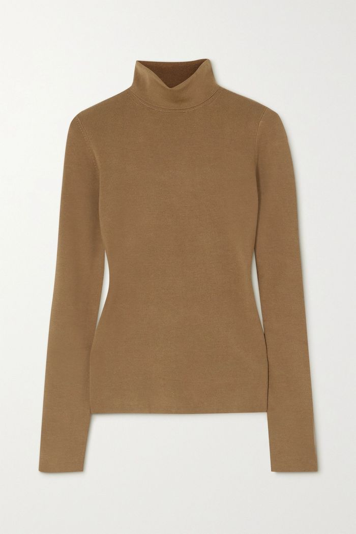 Joseph Silk-Blend Turtleneck Sweater