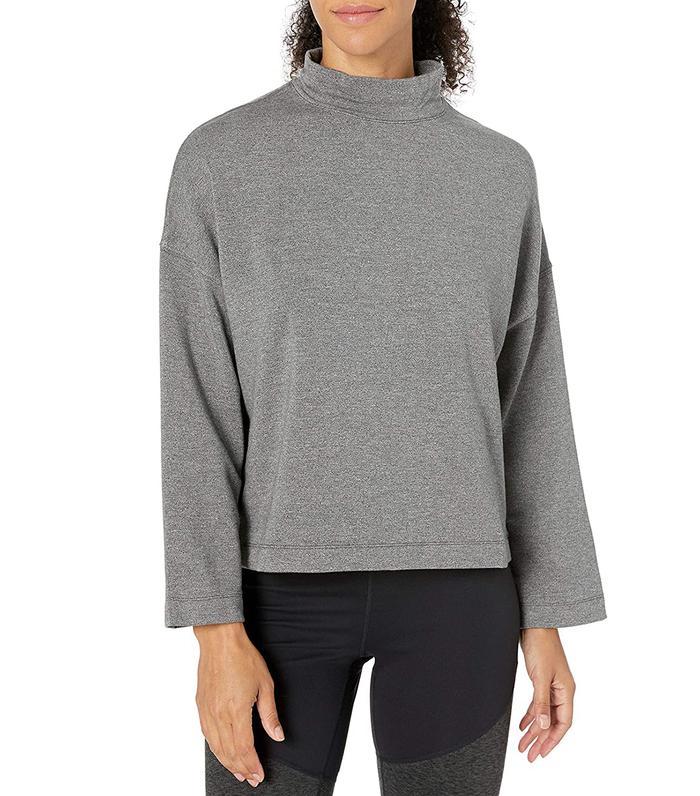 Core 10 Cloud Soft Yoga Fleece Mock Dolman Sweatshirt