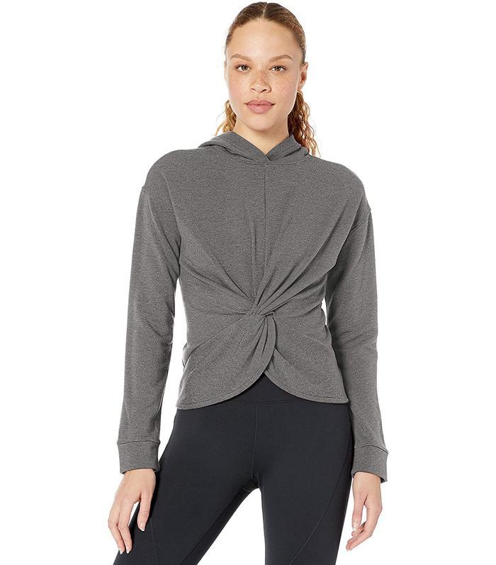 Core 10 Cloud Soft Yoga Fleece Twist Front Hoodie Sweatshirt