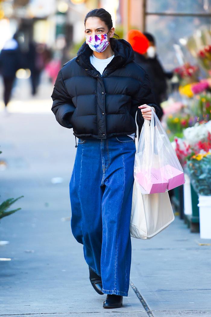 Katie Holmes puffer jacket