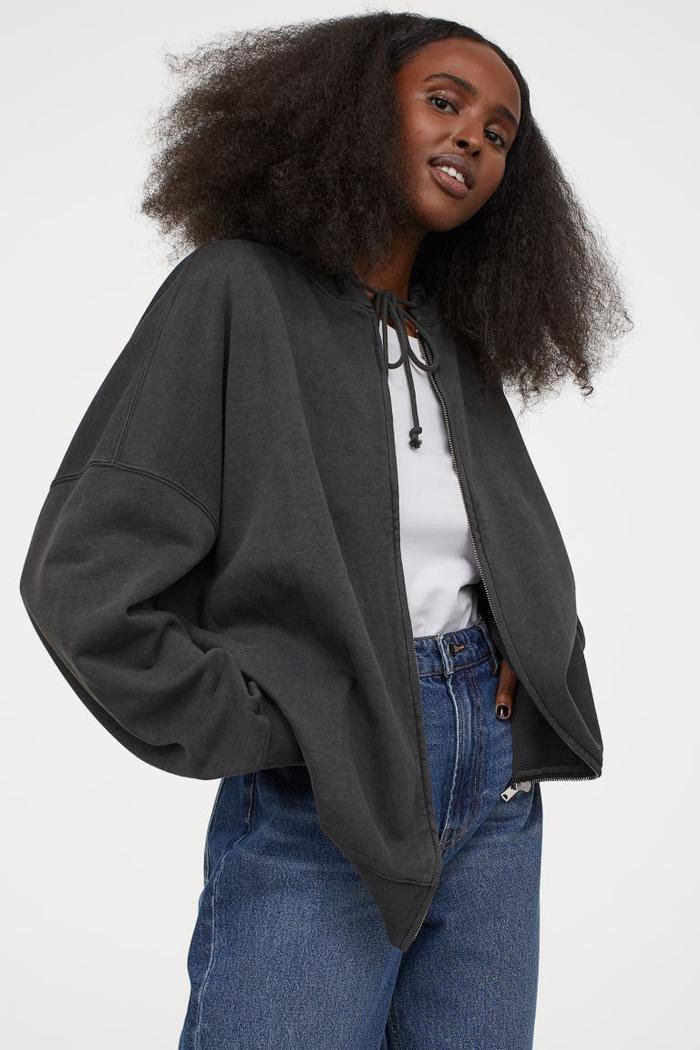 H&M Oversized Hooded Jacket
