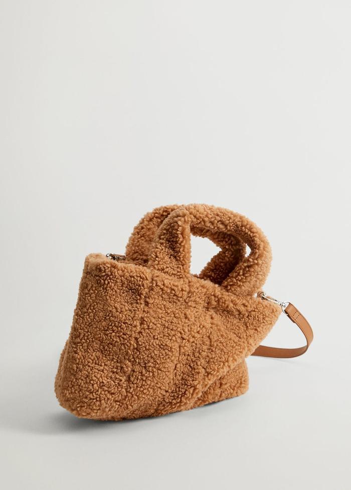 Mango Faux Fur Shopper Bag