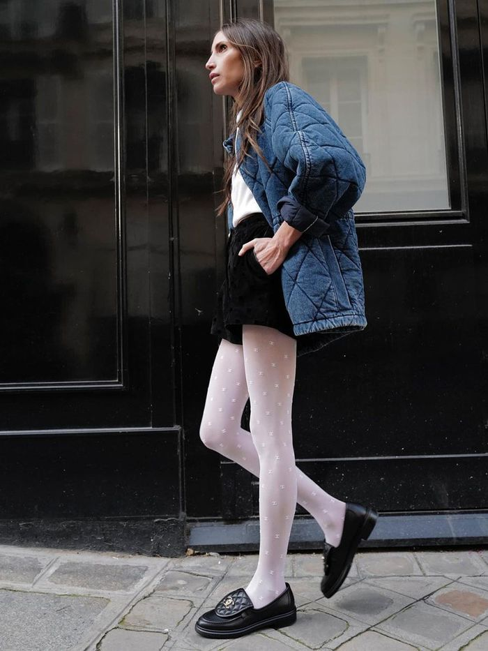 Patterned tights outfit