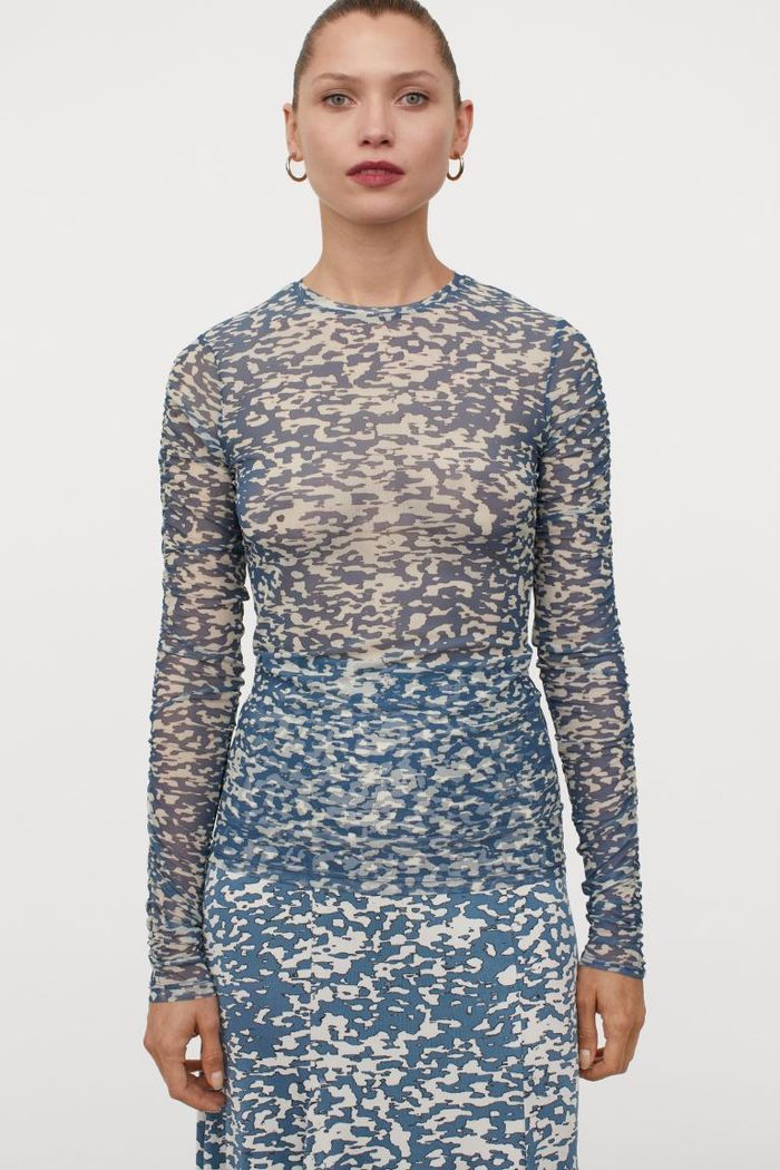 H&M Patterned Mesh Top