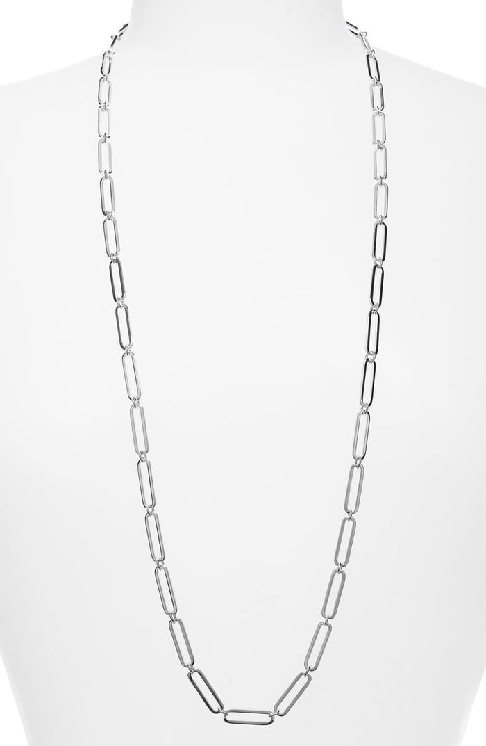 Halogen® Long Linear Link Chain Necklace