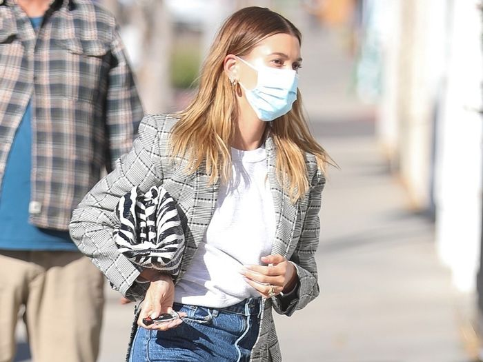 First Katie Holmes, Now Hailey Bieber—This Denim Trend Is Happening