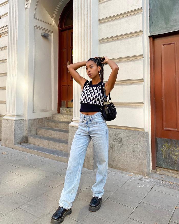 Agolde Criss-Cross Jeans: @amaka.hamelijnck