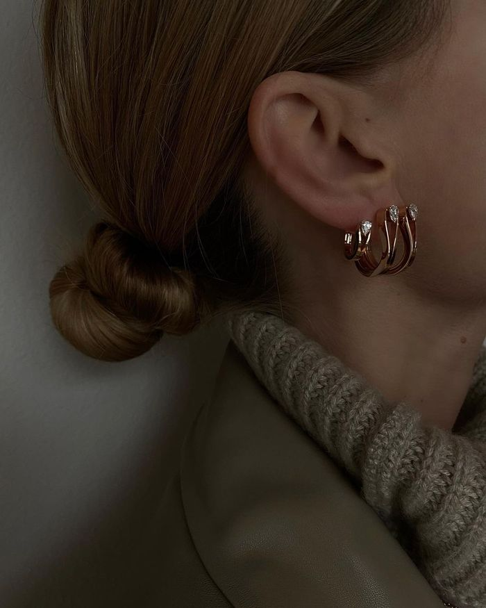 Pretty earring trends: double hoops