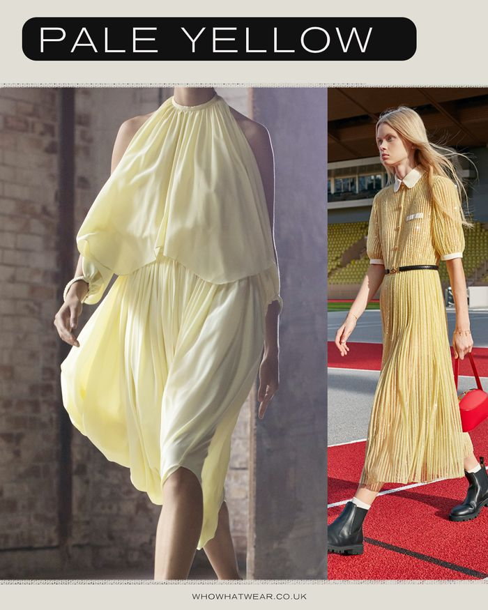 colour fashion trends 2021: pale yellow as seen at Altuzarra and Celine