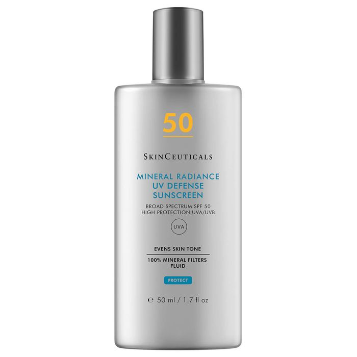 Anti-ageing skincare routine for 30s: SkinCeuticals Mineral Radiance UV Defense SPF50 Sunscreen Protection