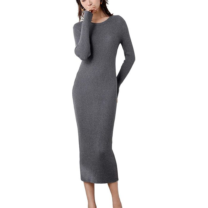 Fincati Ribbed Knit Dress