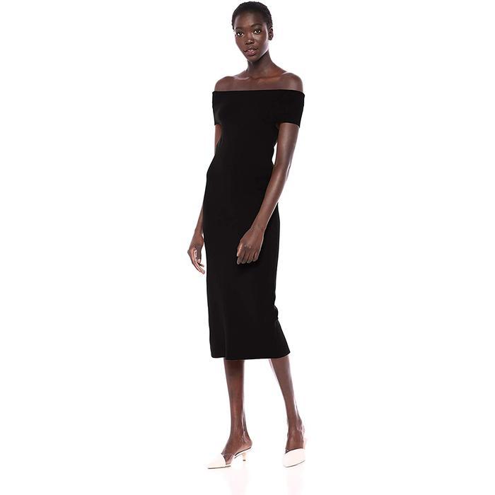 Lark & Ro Off-the-Shoulder Sheath Sweater Dress