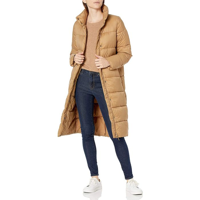 Amazon Essentials Midweight Water Resistant Relaxed Fit Cocoon Puffer Coat
