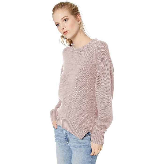 Daily Ritual Oversized Chunky Long-Sleeve Crew Pullover Sweater