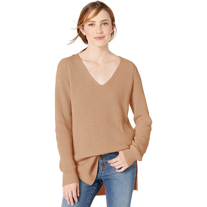Goodthreads Shaker Stitch Deep V-Neck Sweater