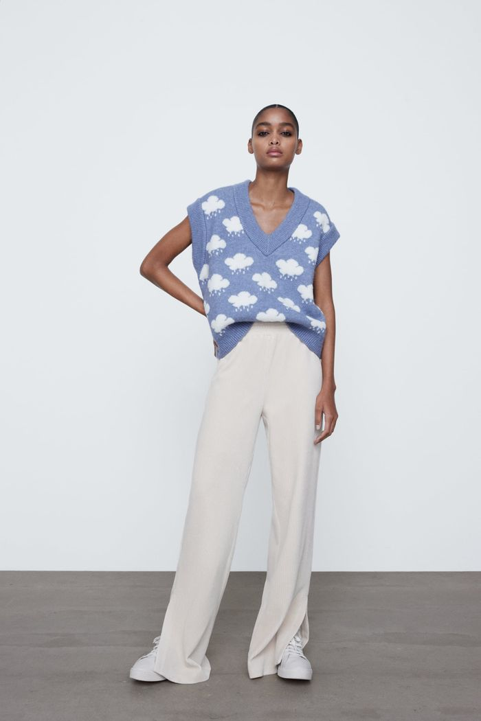Zara Jacquard Knit Vest