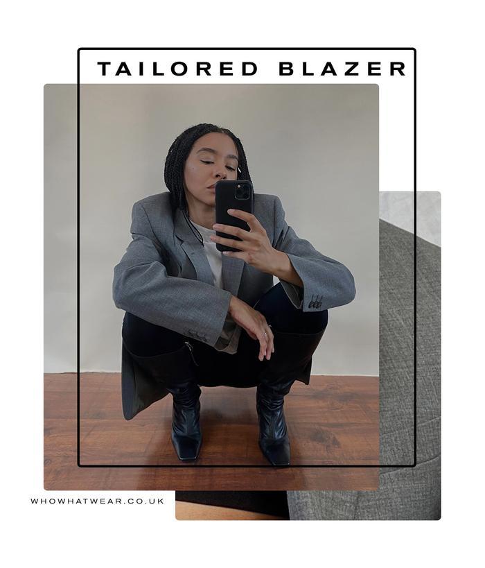 best rewear fashion items: grey blazer