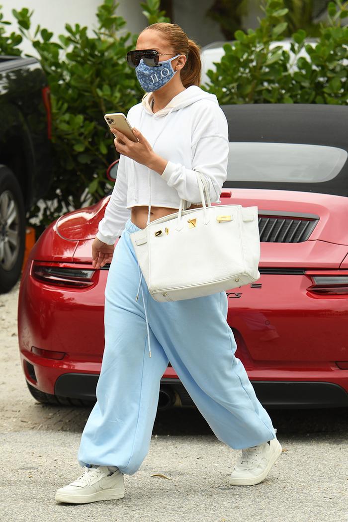 Jennifer Lopez low-rise sweatpants