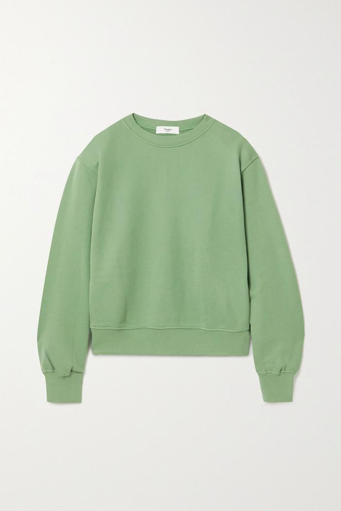Frankie Shop Vanessa Cotton-Jersey Sweatshirt
