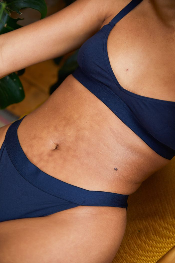 The Nude Label Basic Bra in Midnight Blue
