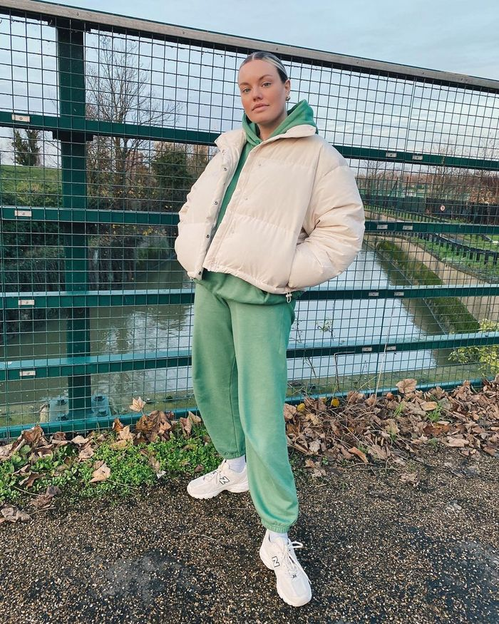 How to wear a puffer and joggers