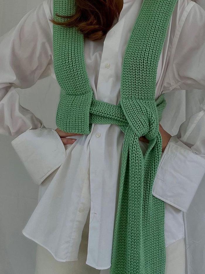 Simonett Inspired Knit Tie Top