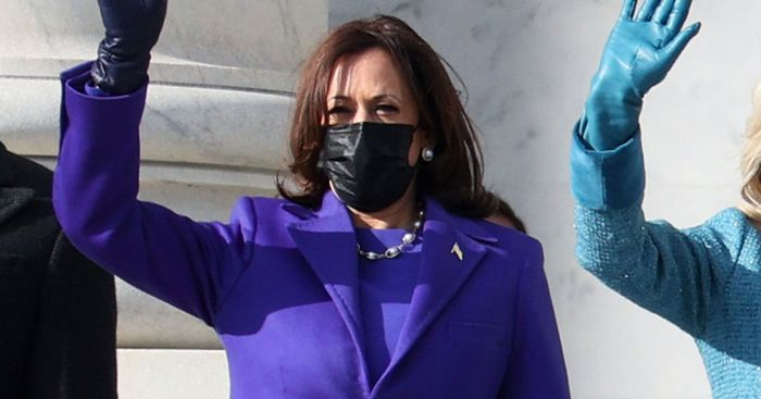 Kamala Harris's Purple Inauguration Outfit Is Striking