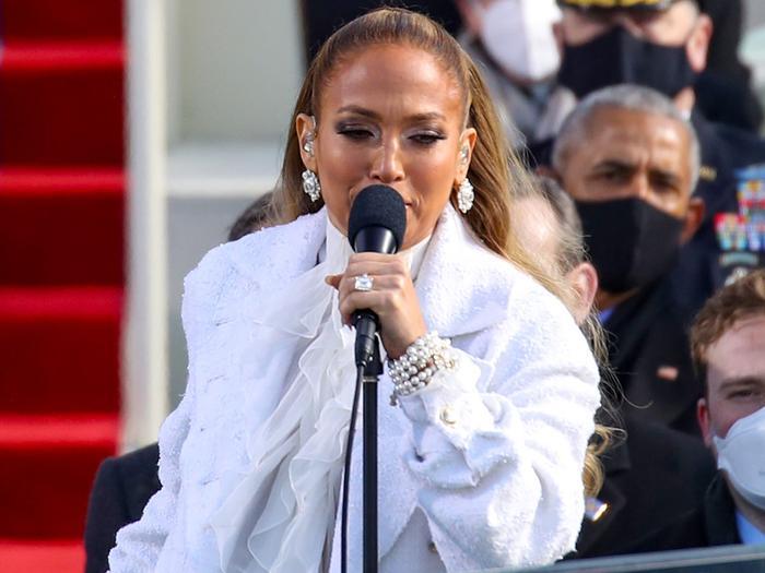 Jennifer Lopez Wore an Homage to Kamala Harris on Inauguration Day