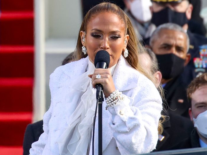 Jennifer Lopez wore white Chanel to the Inauguration