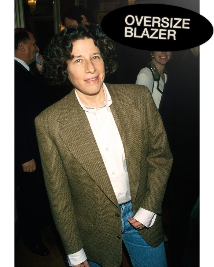 Fran Lebowitz style: oversize blazer