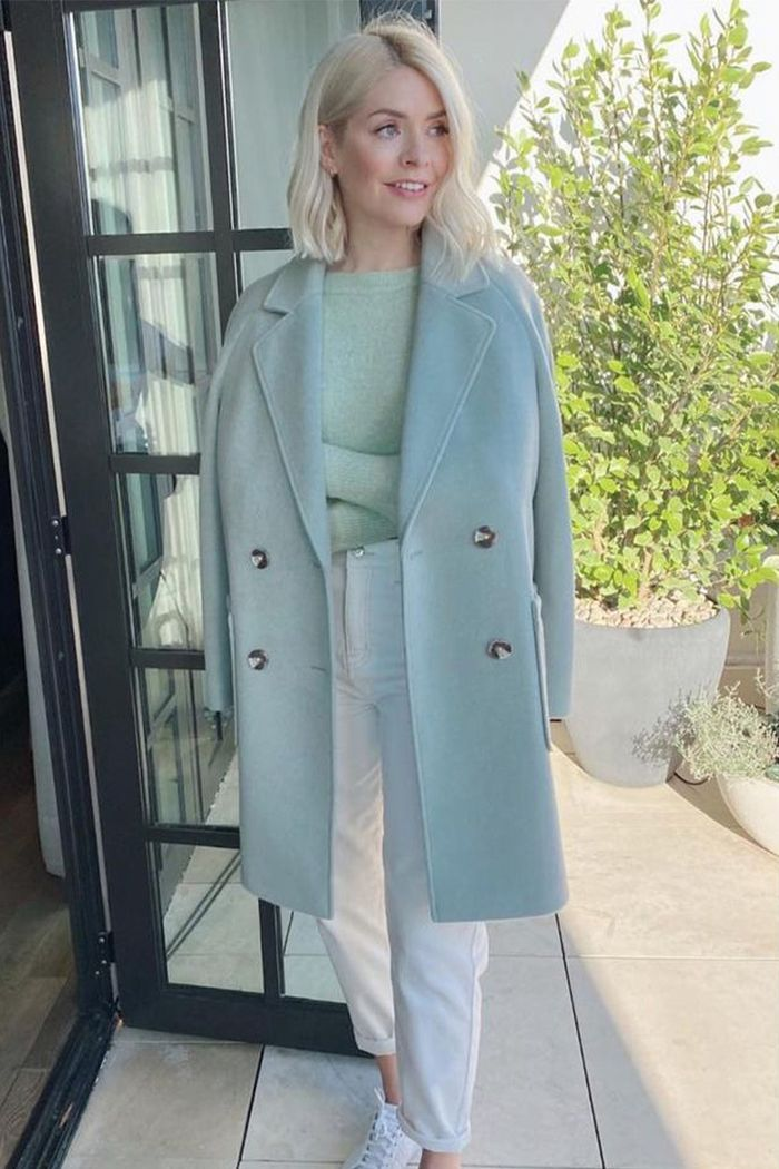Holly Willoughby Fashion: M&S Green Coat