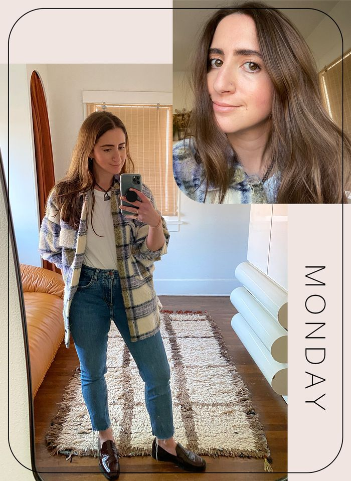 Makeup and outfit for Monday