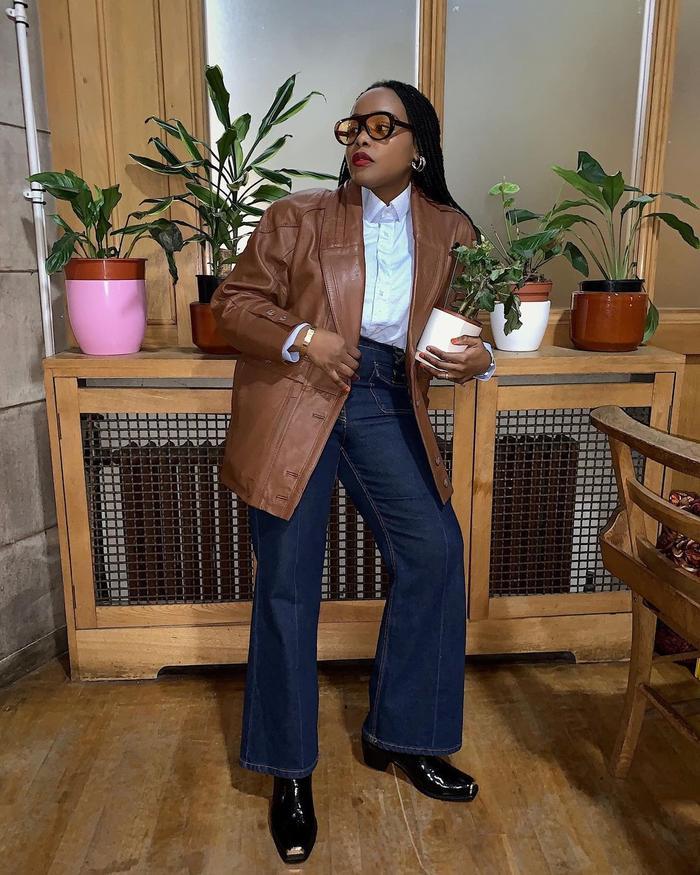 Are Bootcut Jeans in Style 2021: @ada_oguntodu wears bootcut jeans
