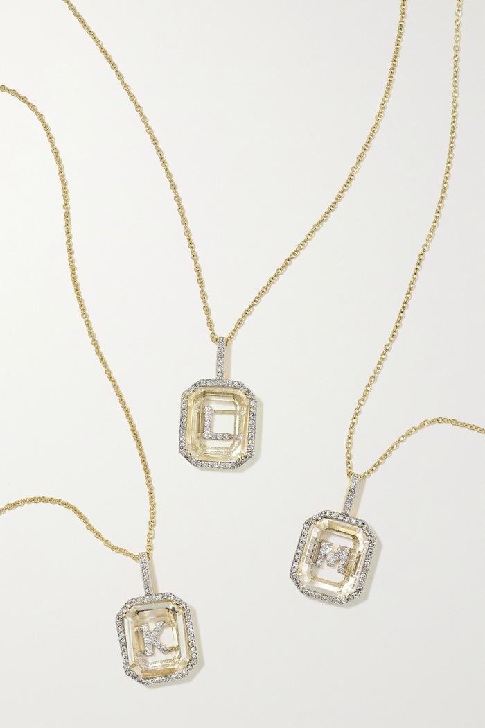 SilverGold Jewelry Amanda Gorman Profile Necklace
