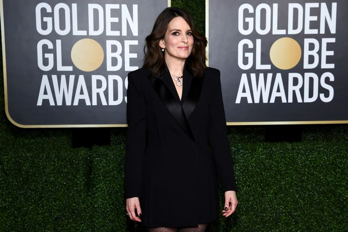 Stylist Cristina Ehrlich on Tina Fey's 2021 Golden Globes Style