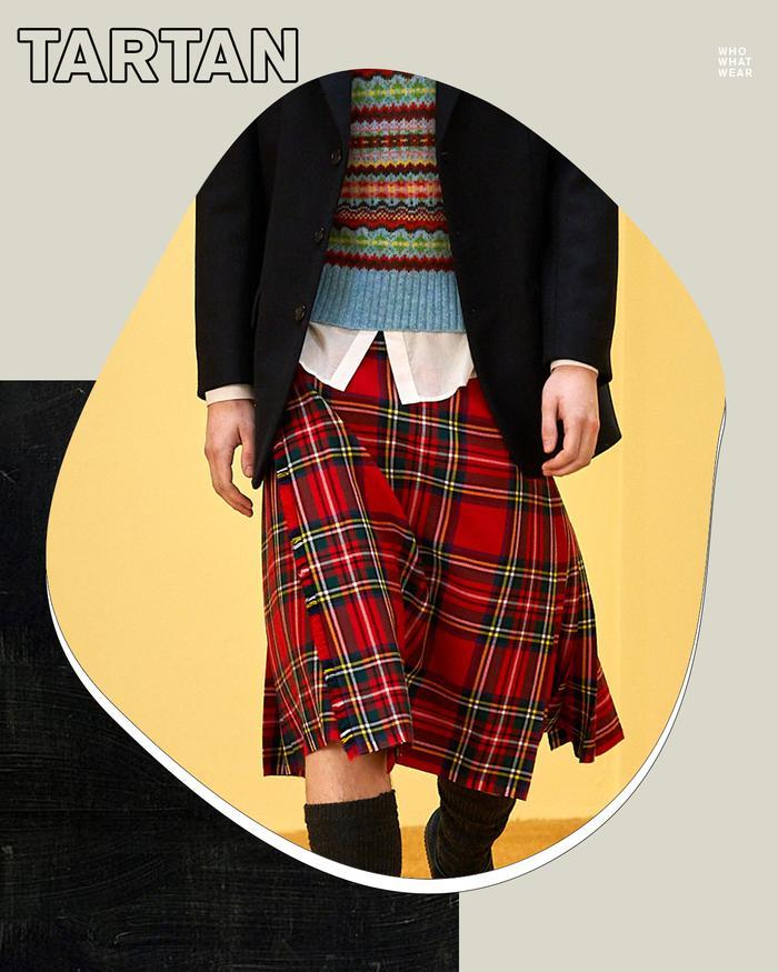 London Fashion Week autumn winter 2021: tartan