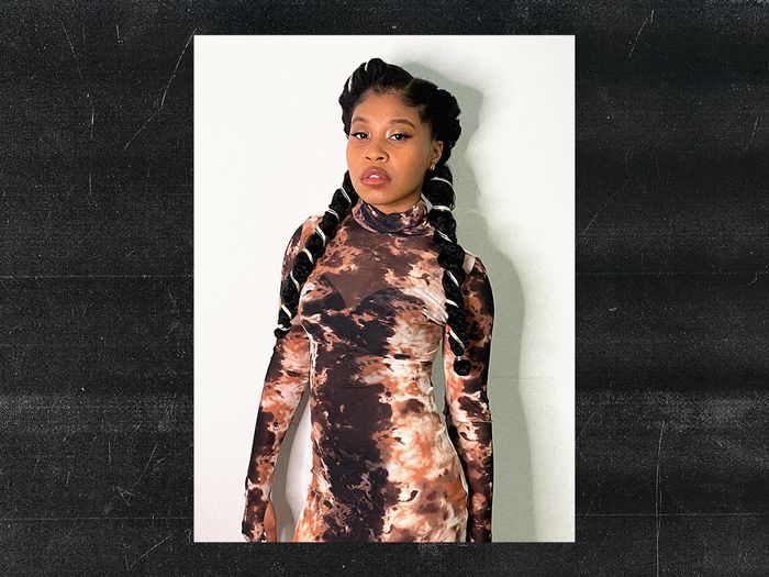 Dominique Fishback Is Winning the Virtual Press Game With Her Eye-Catching Looks