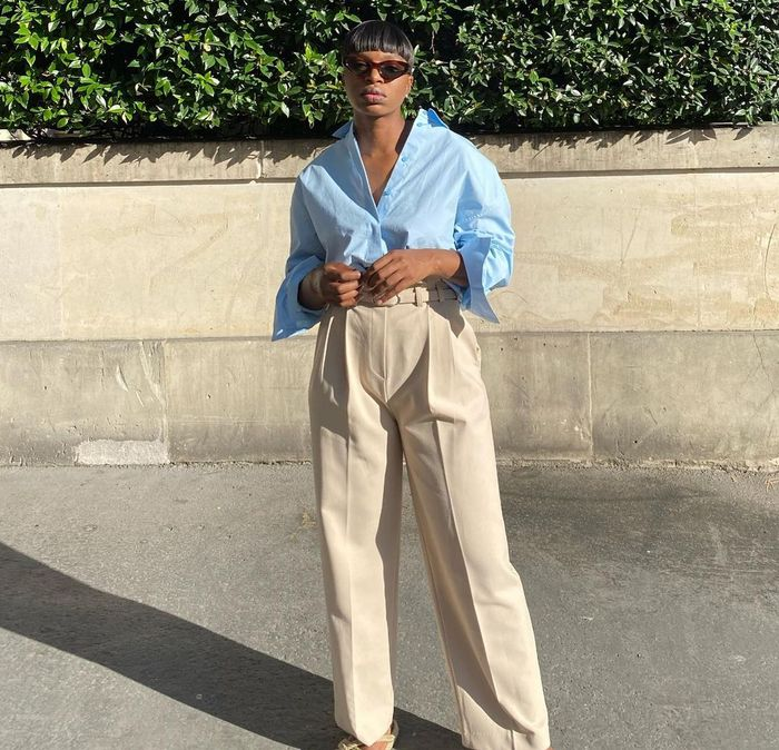 Easy spring outfit idea with trousers