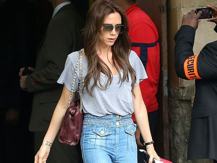 Victoria Beckham Has Been Wearing This Anti-Skinny Jean Trend for Years